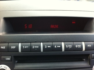 Stock stereo set to AUX